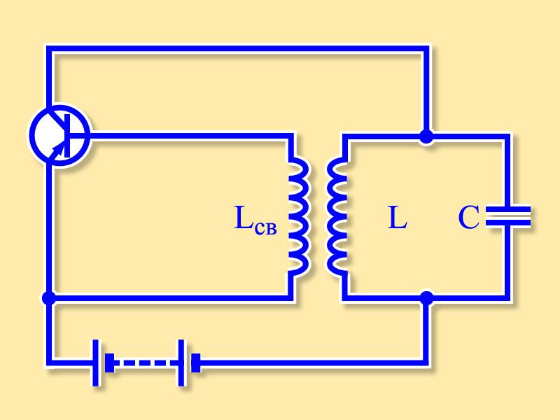 Схема лампового генератора незатухающих колебаний